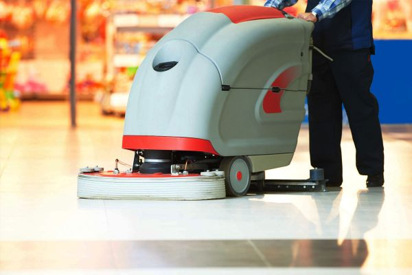 Professional Janitorial Equipment Buffing a floor